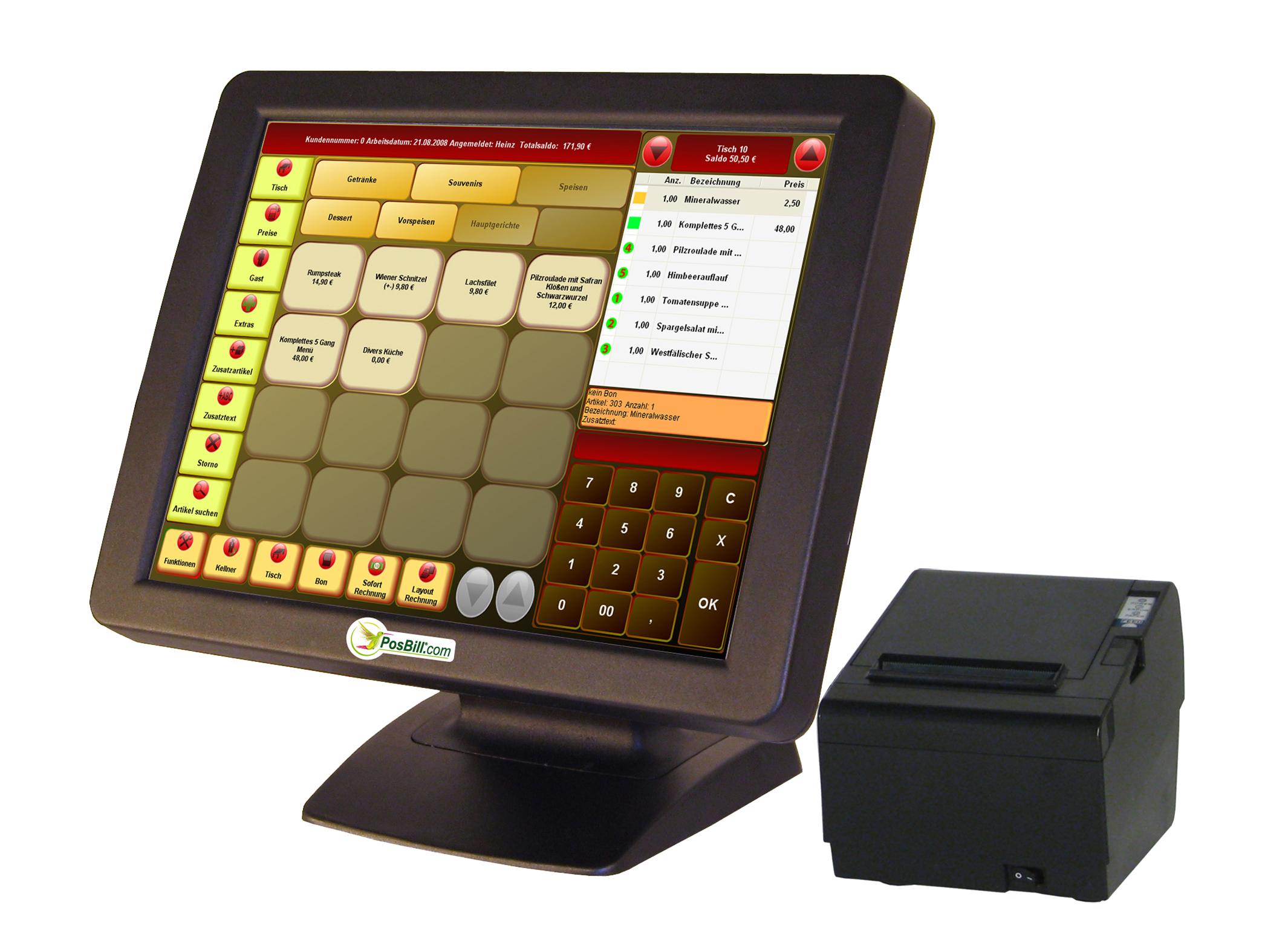 Kassensystem in der Gastronomie Excel mit Konsolidierung Gastrokasse